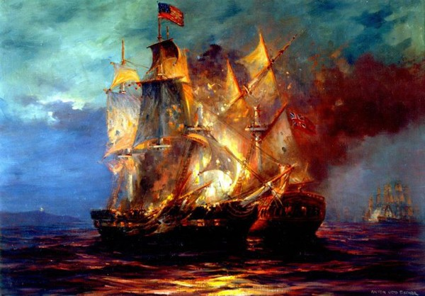 On this day, 232 years ago, the 50-gun HMS Serapis engaged the Bonhomme Richard in the North Sea off Flamborough Head, England