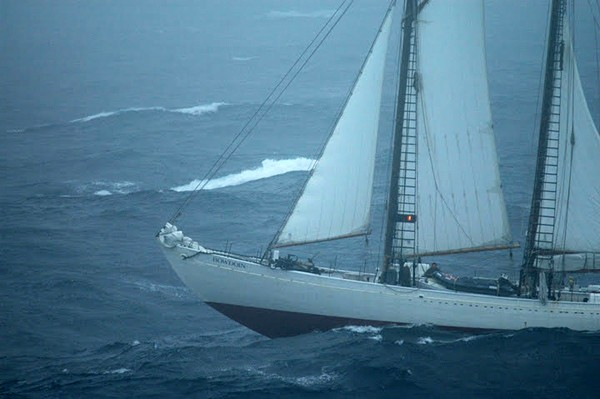 Schooner Bowdoin Rough weather Laurentian Channel Maine Maritime Academy