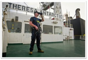 Maritime Security Consultant Aboard Ship